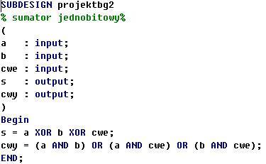 sumator w kodzie spolaryzowanym kto wie jak rozwiazac?