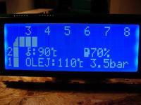 Atmega+LCD jako wyświetlacz w aucie wyścigowym.