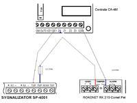 Jak podłączyć czujkę do CA-4M