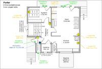 Plan rozmieszczenia czujek - dom jednorodzinny - do oceny