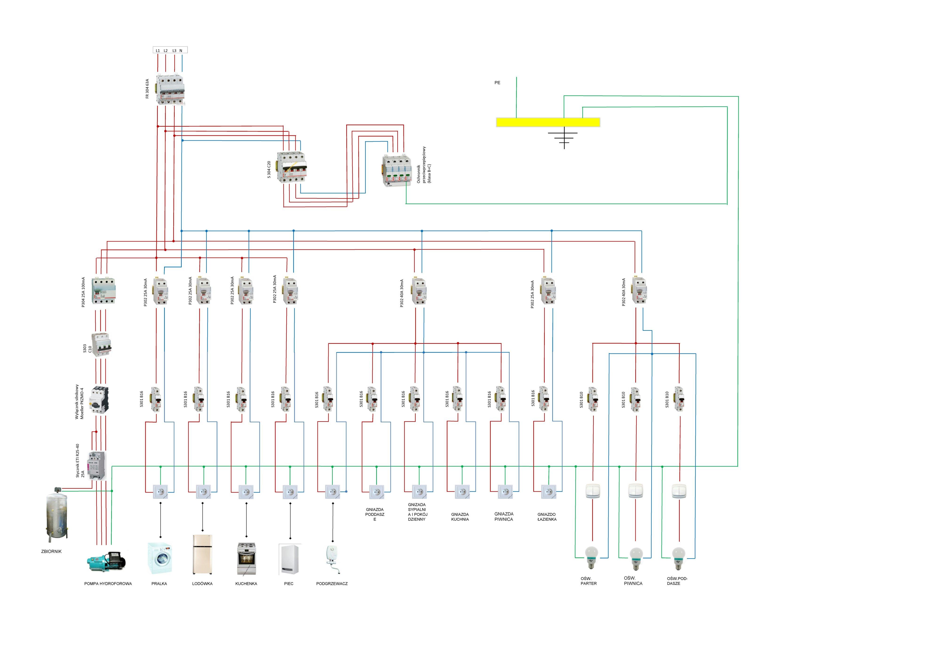 Schemat Instalacji W Domu Jednorodzinnym Elektrodapl