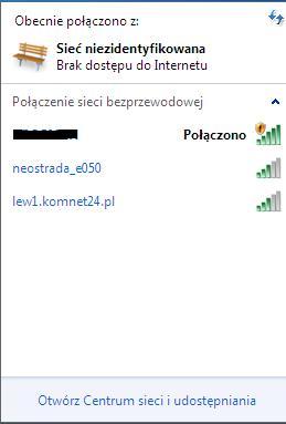Windows 7 - problem z siecia - siec niezidentyfikowana