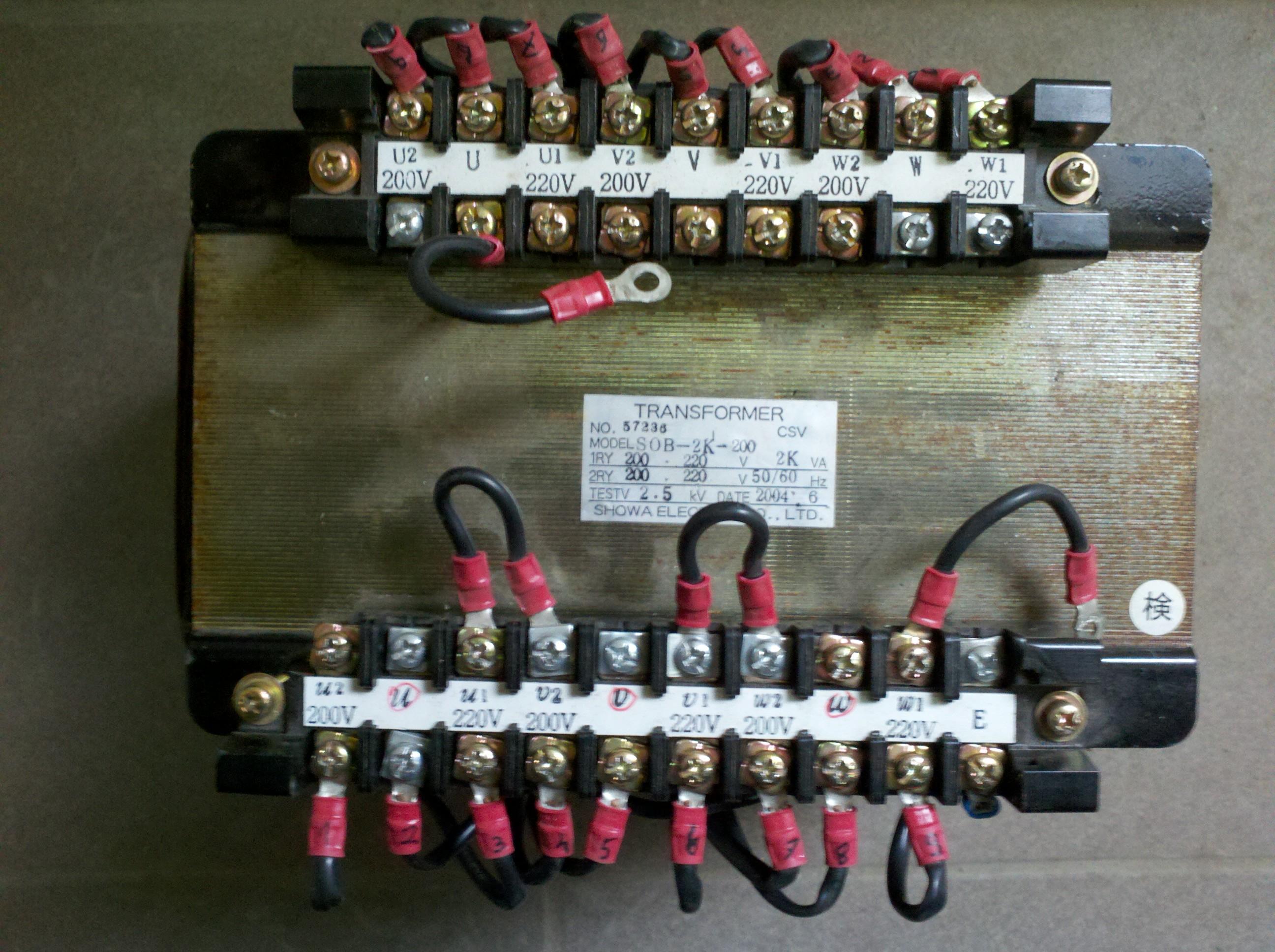 Transformator separacyjny tr�jfazowy Showa electric- jak pod��czy�?