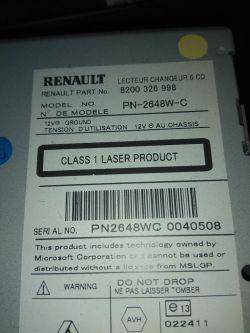 Renault Laguna 2006 - radio Cabasse wyłącza dźwięk, nie zawsze uruchamia się.