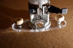 Akrylowa stopa do frezarki górnowrzecionowej/krawędziowej