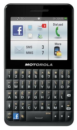 Motorola MOTOKEY SOCIAL QWERTY - smartfon z klawiaturą qwerty i przyciskiem fb