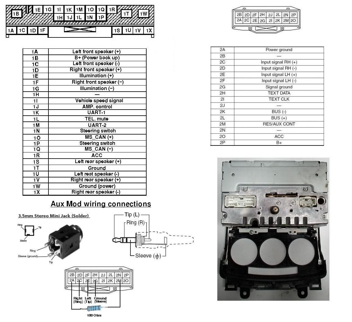 Mazda 3 Aux Input Wiring Diagram : Wiring diagram for mazda b get free