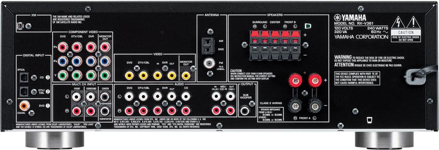 Yamaha RX-V361 podłączenie sprzętu domowego
