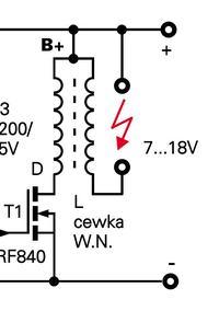 Ogrodzenie elektryczne - Podłączenie cewki WN