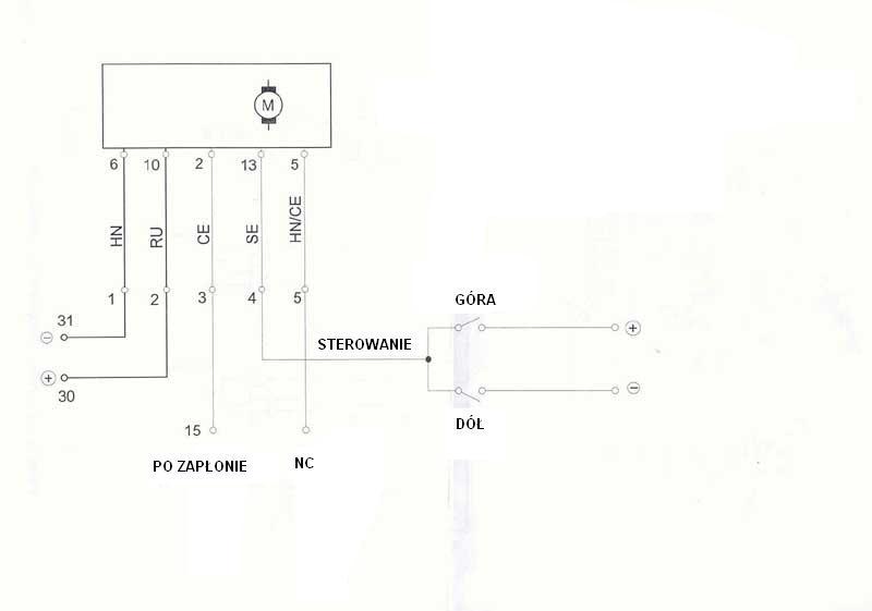 Skoda Felicia sterowanie elektrycznymi szybami uniwersalne przyciski