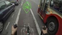 BLAZE - projektor wyświetlający ostrzegawczy znak przed rowerem