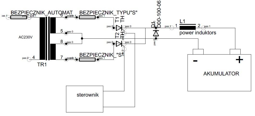 Zabezpieczenie nadpr�dowe wt�rnego uzwojenia transformatora.