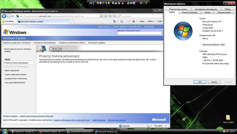Windows Update, Service Pack 3 - Nie chce si� uruchomi�/b��d w po�owie instalacj