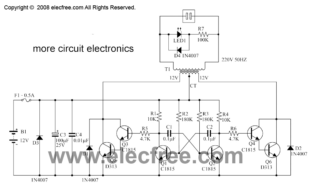 Przetwornica napi�cia 12VDC na 230VAC o mocy 250W (SG 3524)