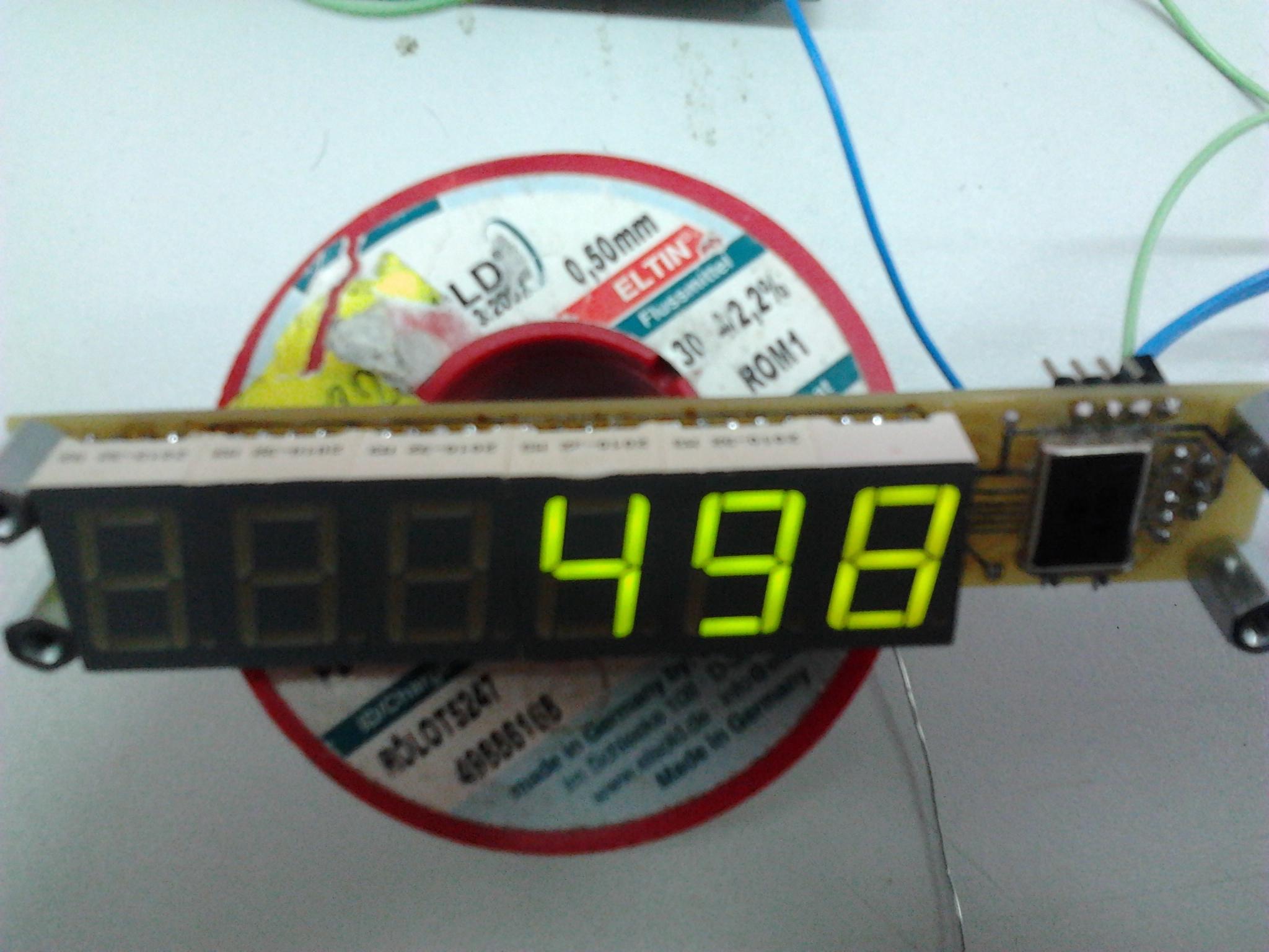 Wy�wietlacz 6 LED 1wire