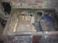 Stara kuchnia kafelkowa - odprowadzenie spalin + odzyskanie ciepła