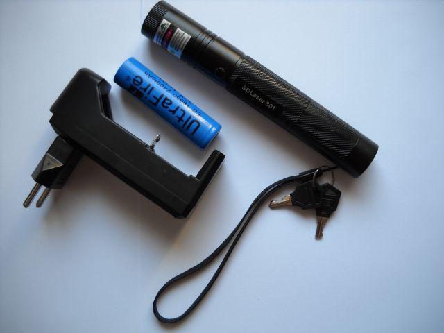 [Sprzedam] Laser zielony true 100mW - podpala zapa�ki, graweruje, AKU, �adowarka