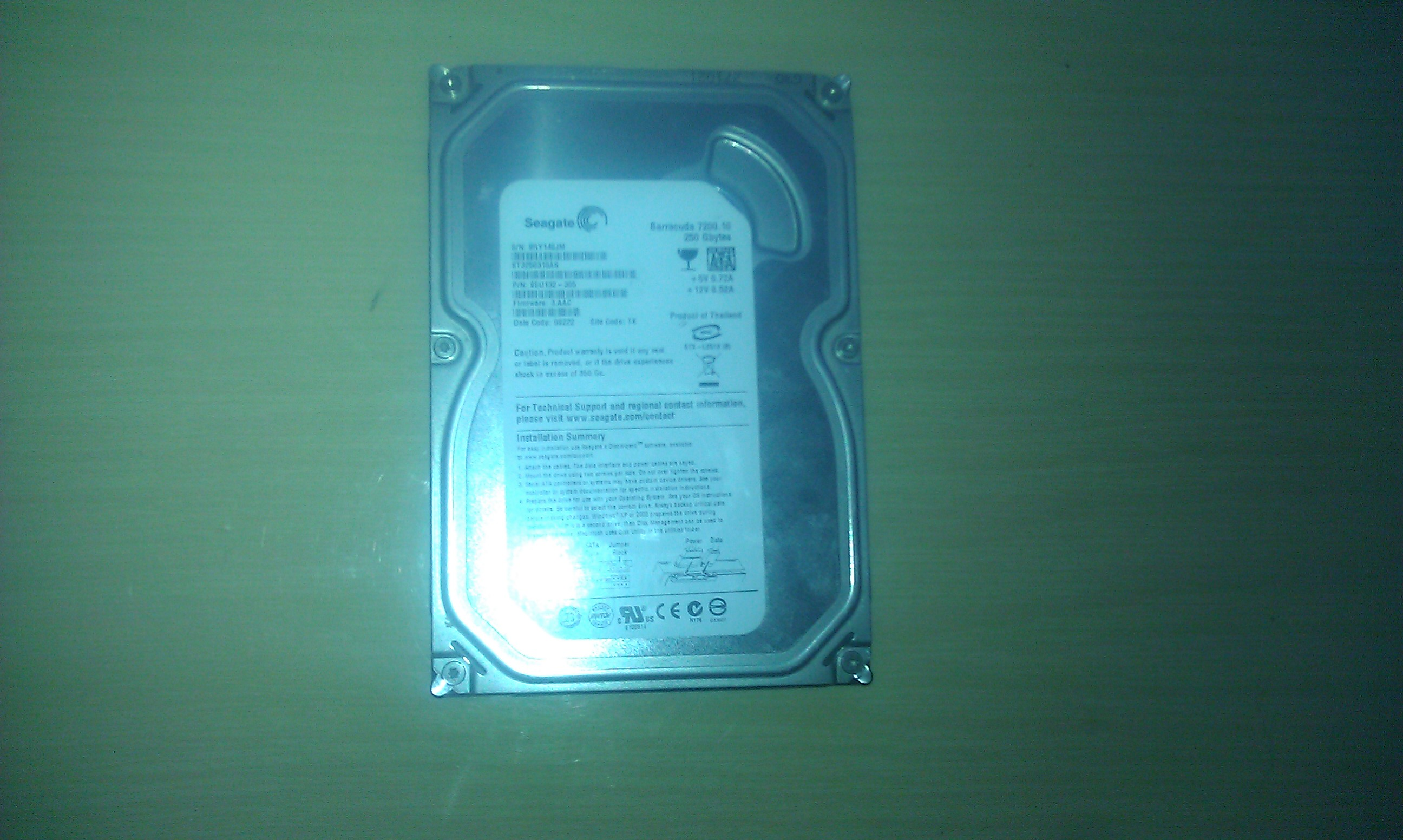 HDD Segate Barracuda 7200.10 250GB