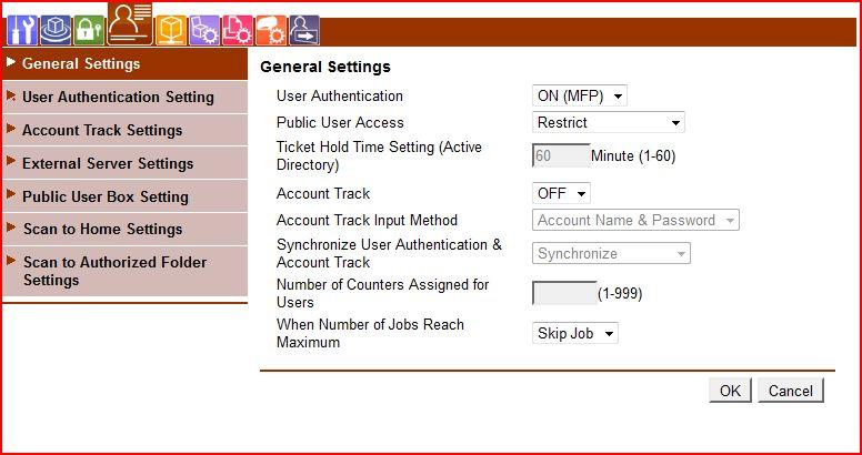 Develop ineo 223 / Konica Minolta Bizhub autoryzacja karty zbli�eniowe.