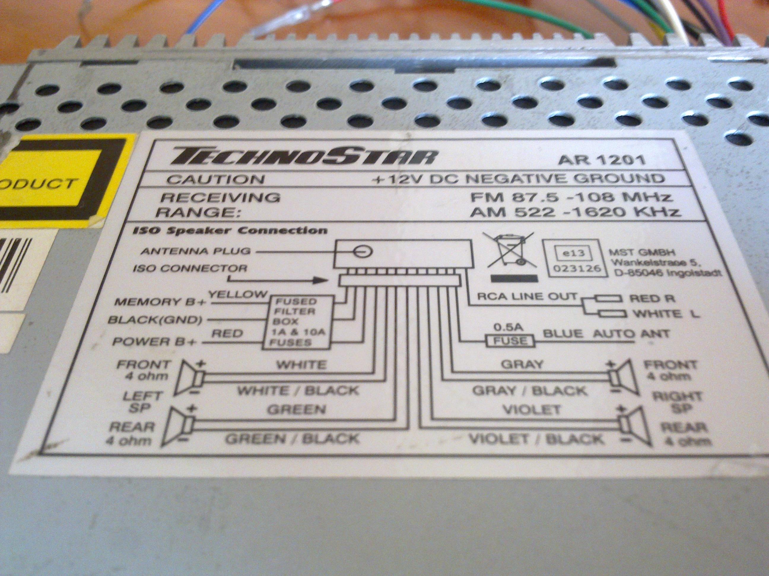 technostar ar1201 manual