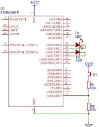 [ATMega8][Asembler] Przełączanie diody LED za pomocą przycisku