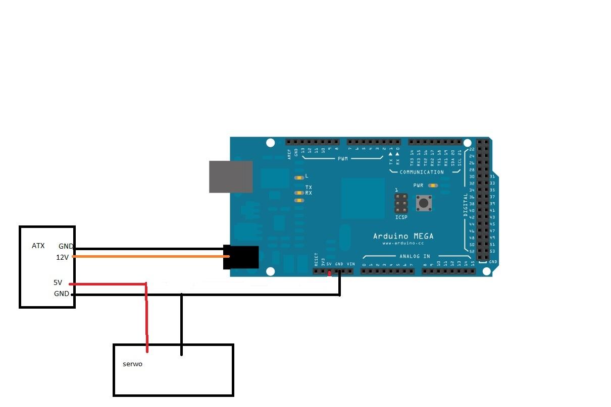 Arduino mega podłączyć v przy zasilaniu z