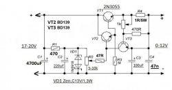 Stabilizator 12V na 2 tranzystorach - czy wartości poprawne