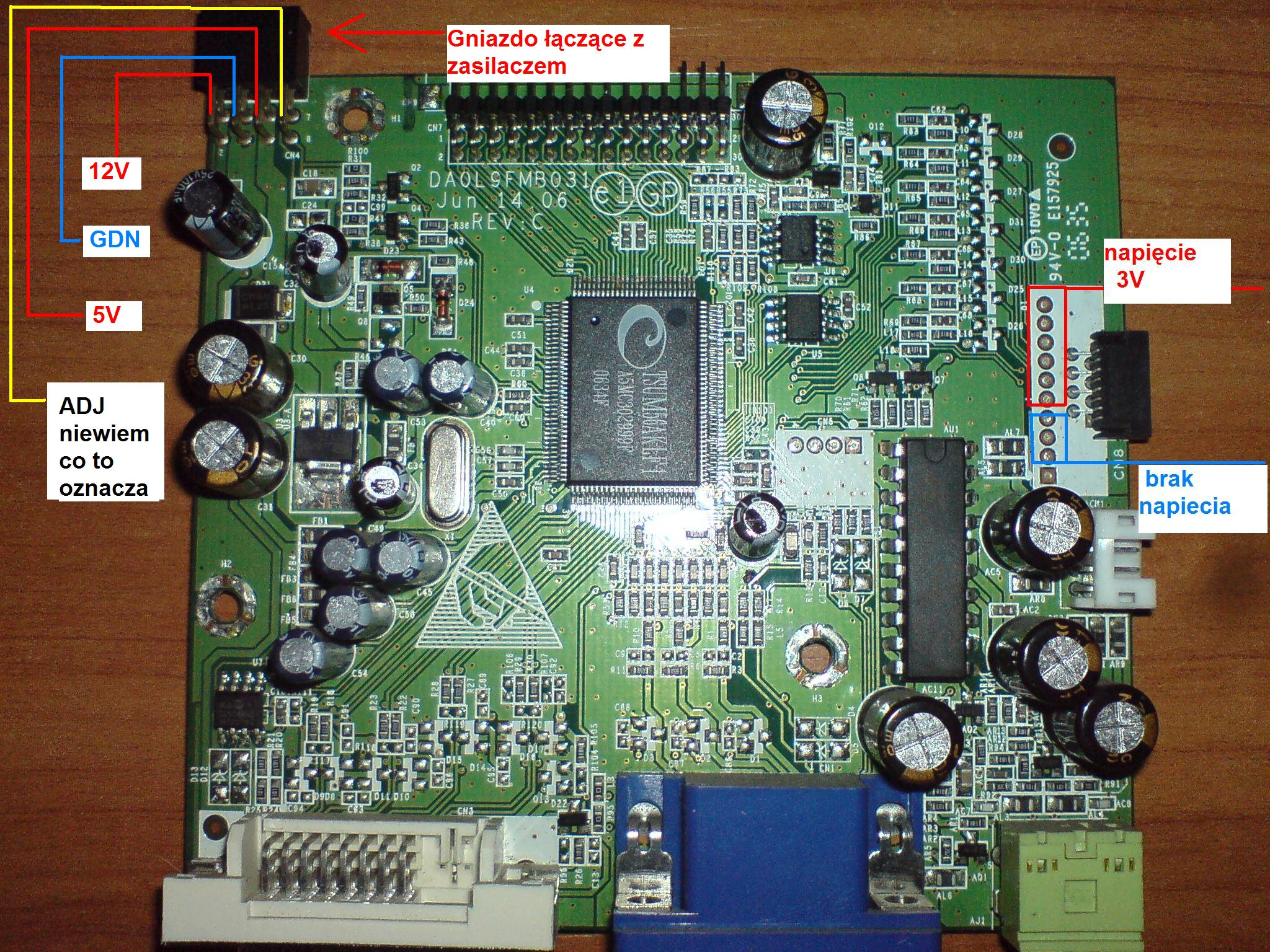 Monitor LCD Fujitsu Siemens L19-2 model L9ZA  brak zasilania
