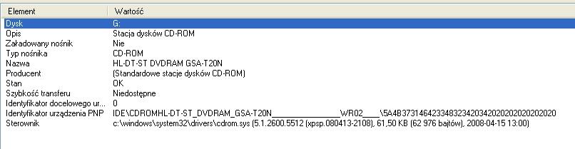 hl-dt-st dvdram gsa-t20n - nie widzi p�yt DVD 8,5 GB