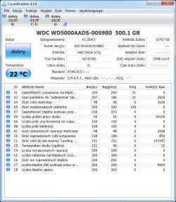 Sprawdzenie SMART dysków HDD.