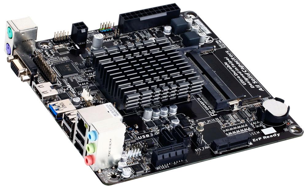Gigabyte GA-J1800N-D2H - p�yta Mini-ITX z Celeron J1800, Intel HD 4000