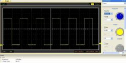 Description of the two-channel square wave signal generator with LED display