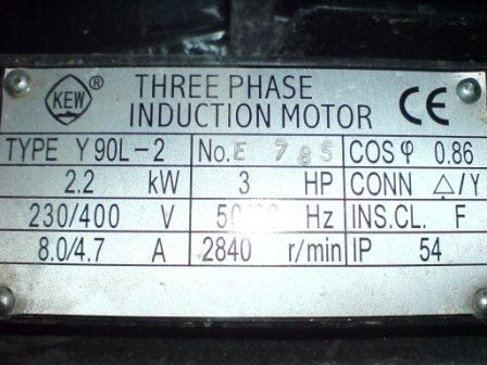 Silnik 3 fazowy na 1 fazę - jaki kondensator pracy??