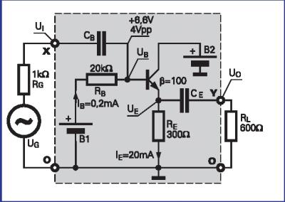kondensator a zmienne napięcia w układzie wzmacniacza