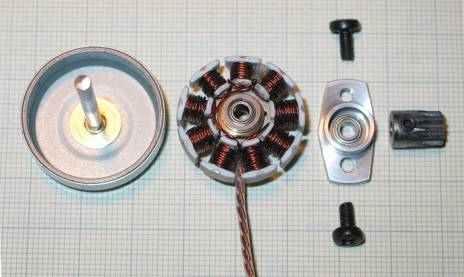 Silnik bezszczotkowy z CD-ROM lub HDD jako silnik modelarski