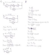 Pomoc w zadaniu - obliczenie prądu w układzie.