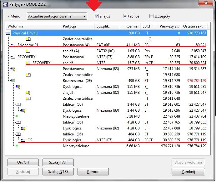 Odbudowa partycji windows po instalacji linuxa