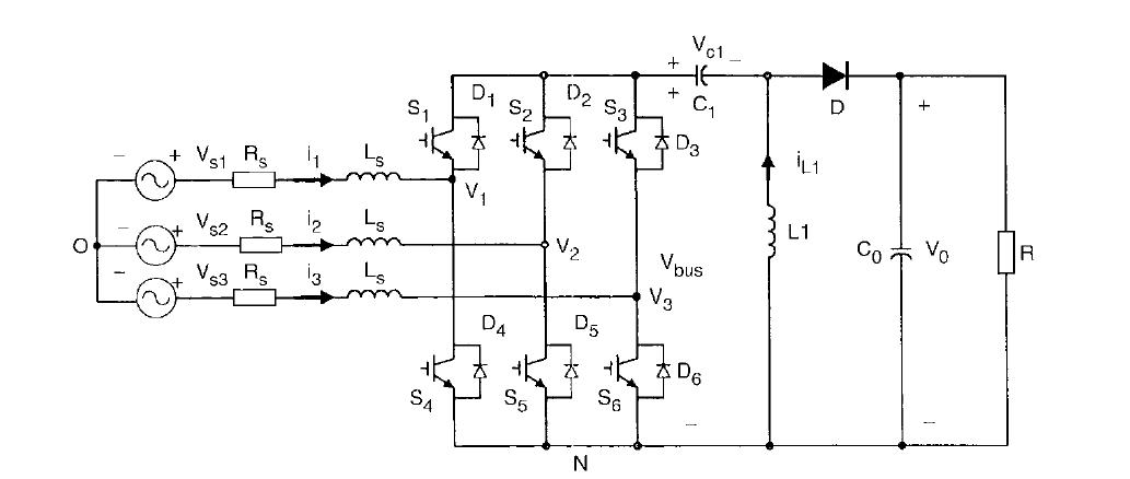3 phase ac sepic converter