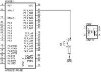 ATMEGA 128 podanie stanu ujemnego na pin przez transoptor