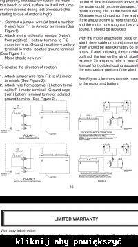 Ramsey RE 10000 - Podłączenie sterowania wyciągarka Ramsey RE 10000