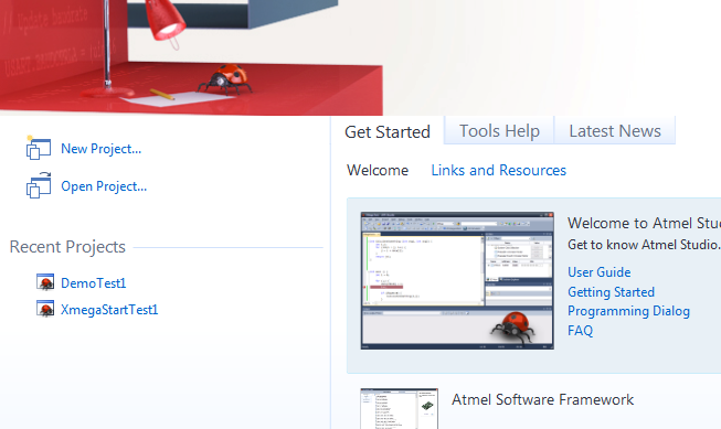 Xmega not Xplained - Szablon projektu demo nie działa w AtmelStudio6