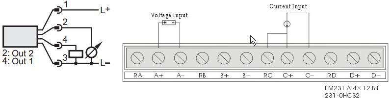 S7-200 EM 231 - Pod��czenie czujnika analogowego z wyj�ciem 4-20 mA