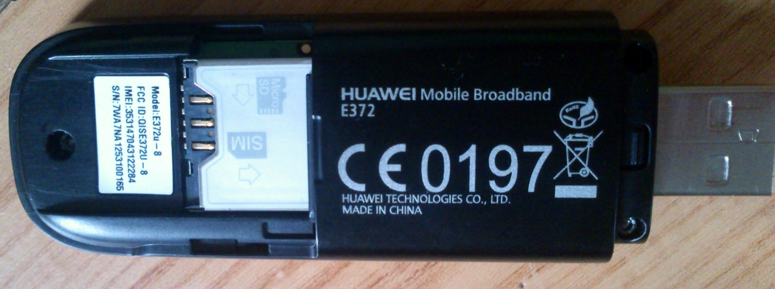 Huawei E372 - Wy�amane gniazdo anteny zewn. + og�lnie s�aby zasi�g.