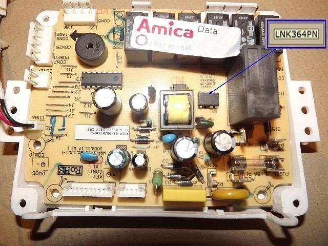 Amica GSP 24042 circuit board - Broken IC5