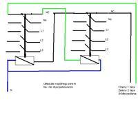 Załączanie pompy z dwóch źródeł zasilania 230V