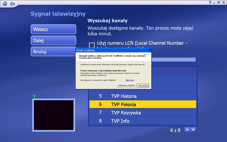 dvb-t usb not only tv - b�ad po instalacji