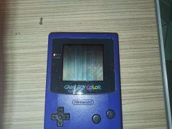 Nintendo game boy color kolorowe paski na ekranie