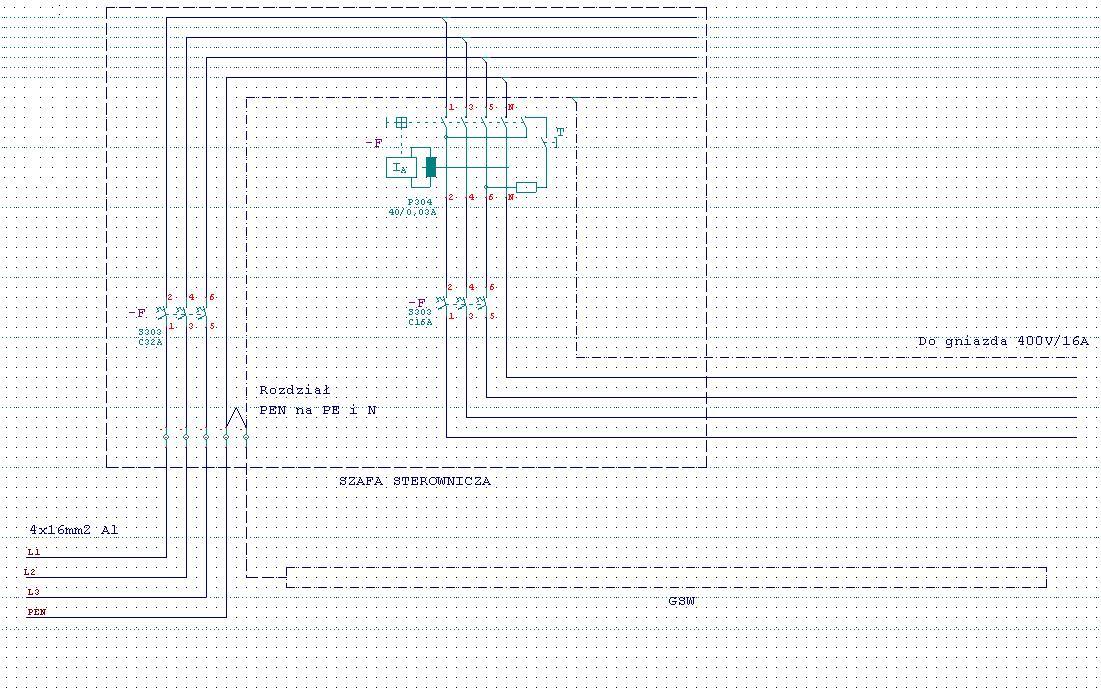 Modernizacja szafy zasilaj�cej TN-C +GSW - pytanie co do po��czenia