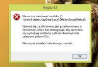 Windows 8.1 - regsvr32 nie można załadować modułu...