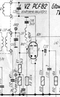 Układ generatora lampowego w TV ametyst
